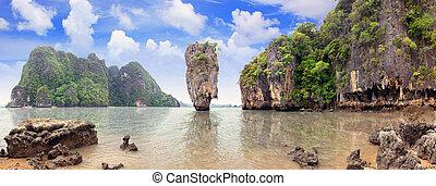 岛, 詹姆斯, 泰国, nga, phang, 结合