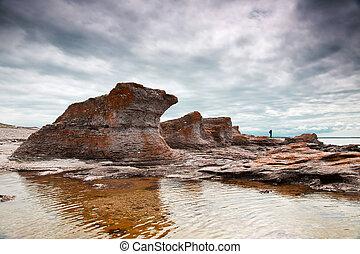 岩が多い, 風景