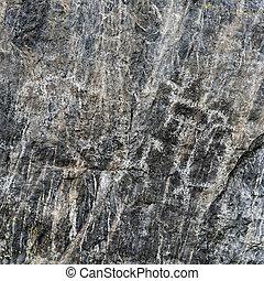 岩石彫刻, プリミティブ, 古代, 石, 黒, 岩