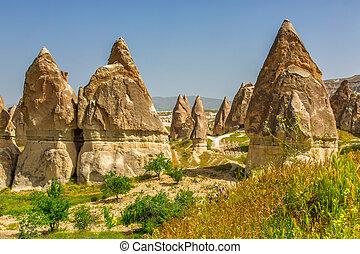 岩, の, ∥, 珍しい, 形態, 中に, cappadocia, トルコ