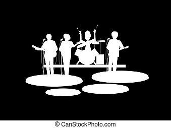岩, 回転しなさい, バンド