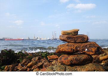 岩, 海 海岸