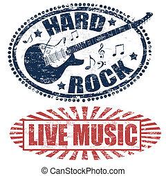岩, 生の音楽, 懸命に, スタンプ