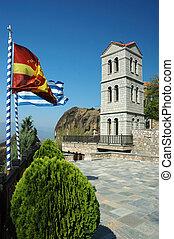 岩, 鐘, meteora, タワー, ギリシャ, 修道院