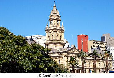 岬, 町, 市役所, (capetown, 南, africa)