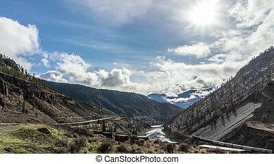 峡谷, フレーザー, 列車