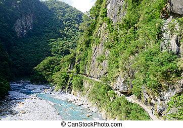 峡谷, 峡谷, toroko, 大理石, 川, 台湾
