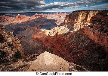 峡谷, 航空写真, ビュー。, 壮大
