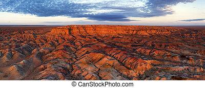 峡谷, tsagaan, suvarga, mongolia