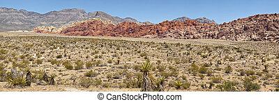 峡谷, vegas, 石头, nv., 红, las