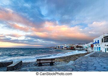 島, わずかしか, mykonos, ベニス, ギリシャ