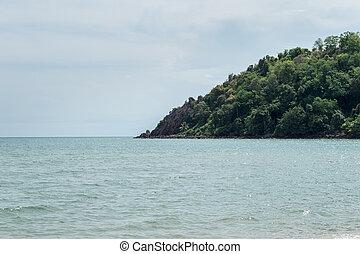 島, クローズアップ, 風景, 海洋