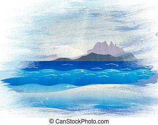 島, グランジ, 海洋