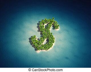 島, ドル