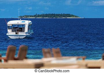島, ボート, もう1(つ・人), 光景