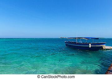 島, ロサリオ, del, 観光客, ボート