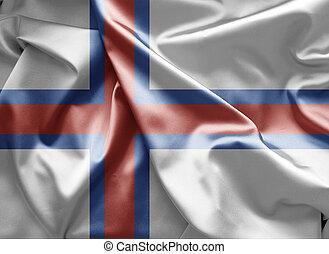 島, 旗, faroe