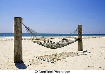 島, bahama, ハンモック, 壮大