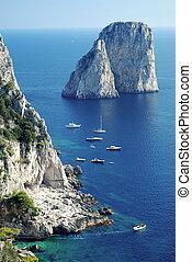 島, capri, faraglioni, 岩