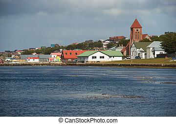 島, falkland, 資本