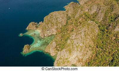 島, palawan, トロピカル, フィリピン。, busuanga