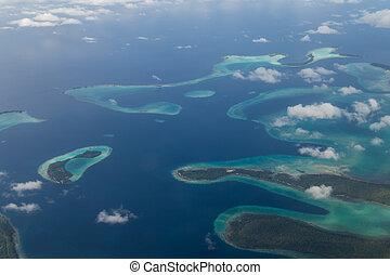 島, solomon, 空中写真
