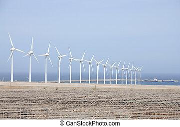 島, windturbines, energy., カナリア, きれいにしなさい, 壮大, スペイン