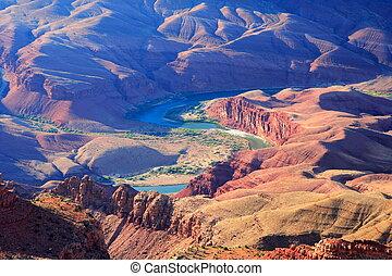 峽谷, 河, colorado, /, 盛大