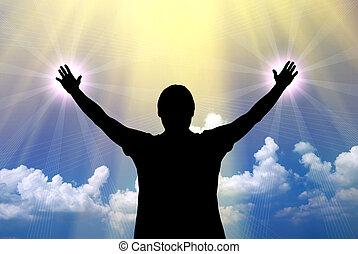 崇拝, へ, 神