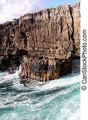崖, 中に, cascais, ポルトガル