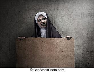 嵌接, 魔鬼, 修女