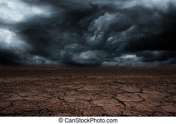嵐の 雲, ∥で∥, 雨, 中に, ∥, 砂漠