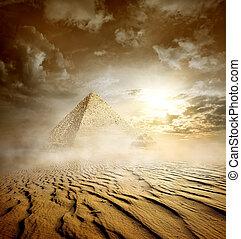 嵐, ピラミッド, 雲