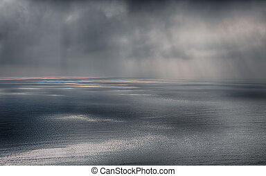 嵐, 上に, ∥, 海, 後で, a, 雨