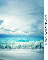 嵐, 海景, 中に, ∥, ionian