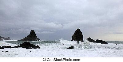 嵐, 海洋