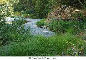 川床, 緑