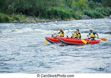 川, いかだで運ぶこと, 家族