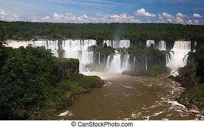 川, ブラジル, iguazu, del, cataratas, 滝