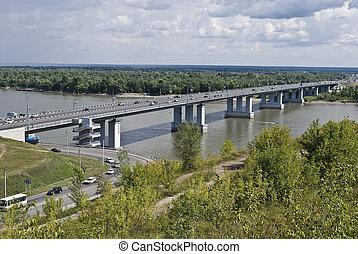 川, 上に, 橋