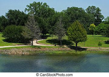 川, 公園, brazos