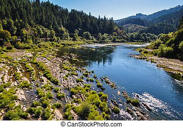 川, 流れること, アメリカ, オレゴン