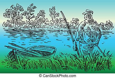 川, 漁師