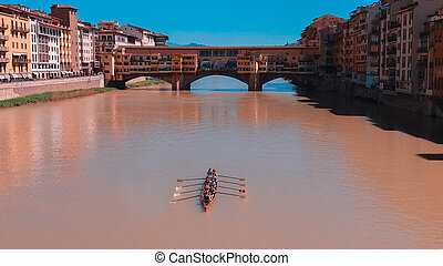 川 arno, rowers, 航海