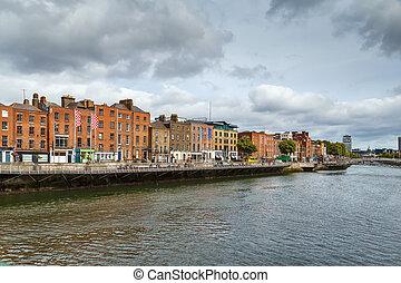 川, liffey, ダブリン, アイルランド