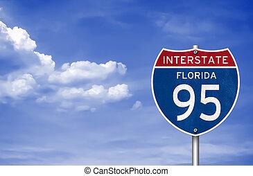 州連帯のハイウェー, へ, フロリダ