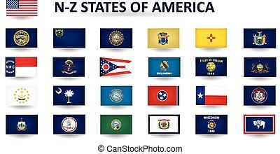 州, アメリカ, n-z