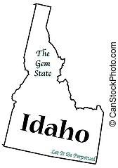 州, スローガン, モットー, アイダホ