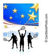 州, テニス, 合併した, チーム