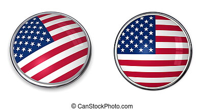 州, ボタン, 合併した, 旗